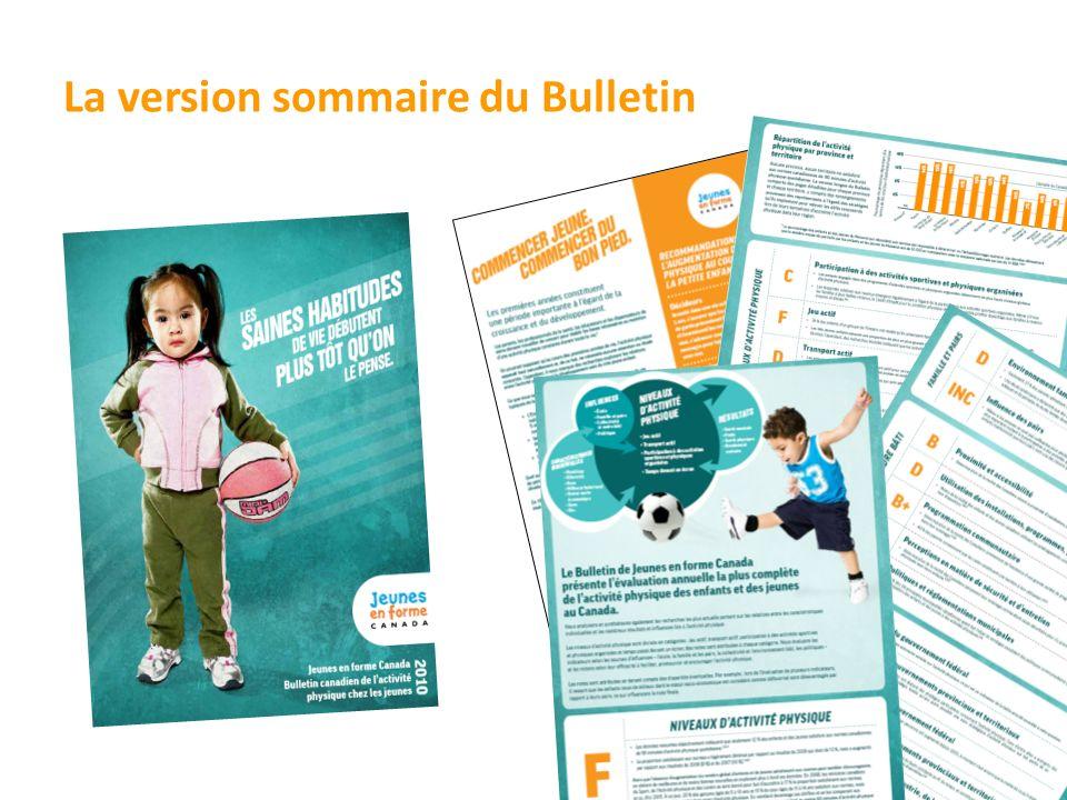 La version sommaire du Bulletin