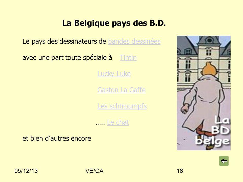 La Belgique pays des B.D. Le pays des dessinateurs de bandes dessinées