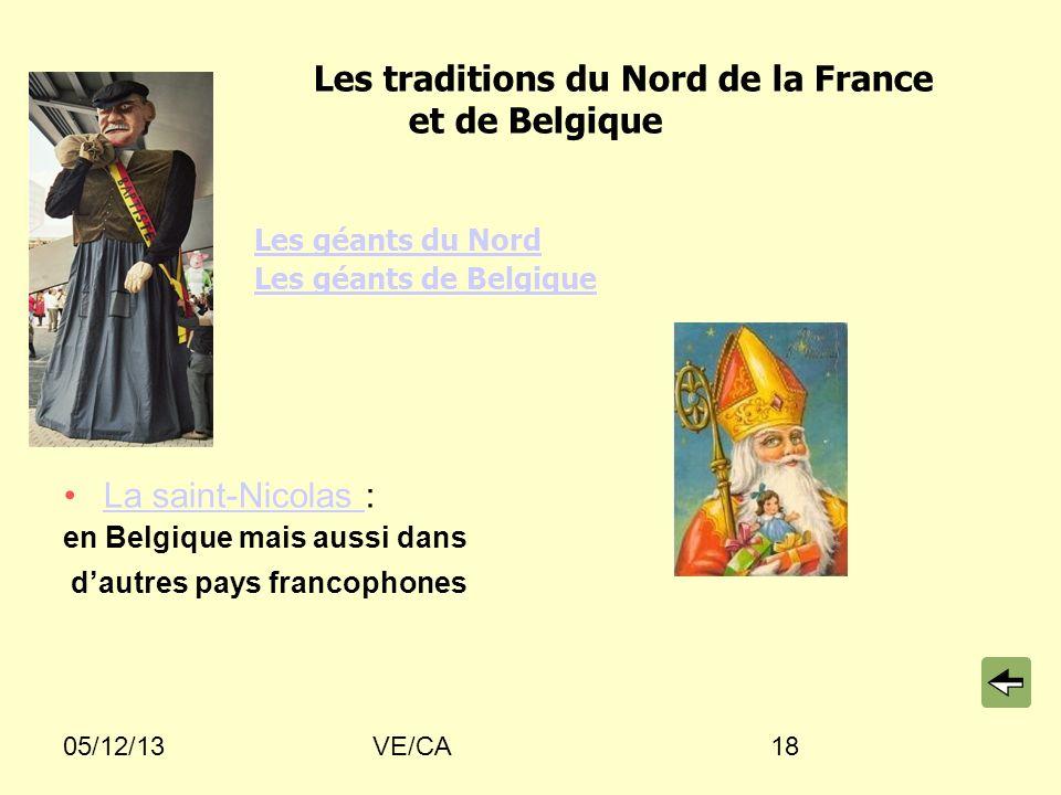 Les traditions du Nord de la France et de Belgique