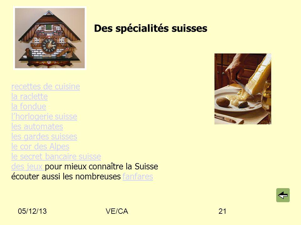 Des spécialités suisses