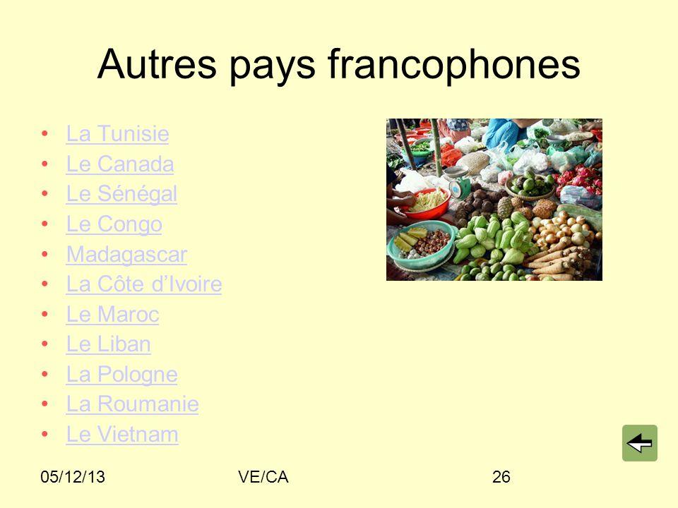 Autres pays francophones