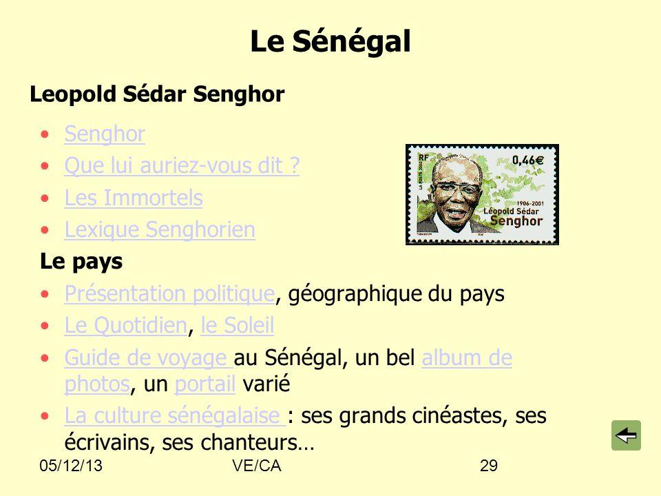 Le Sénégal Leopold Sédar Senghor Senghor Que lui auriez-vous dit