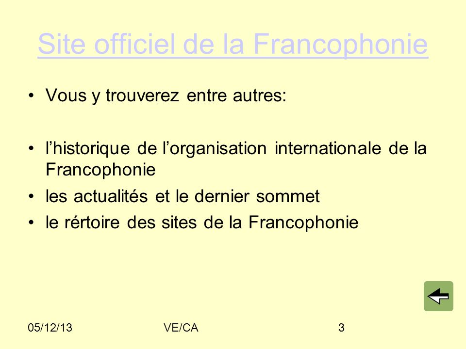 Site officiel de la Francophonie