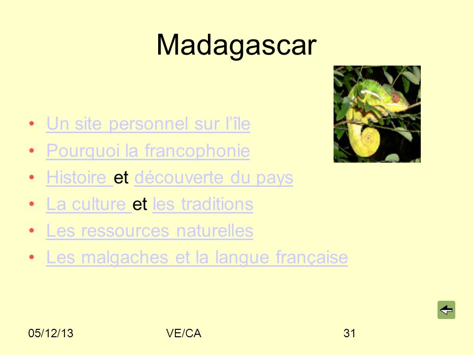 Madagascar Un site personnel sur l'île Pourquoi la francophonie