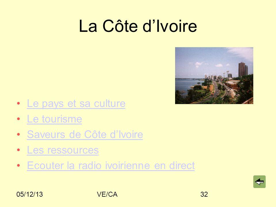 La Côte d'Ivoire Le pays et sa culture Le tourisme