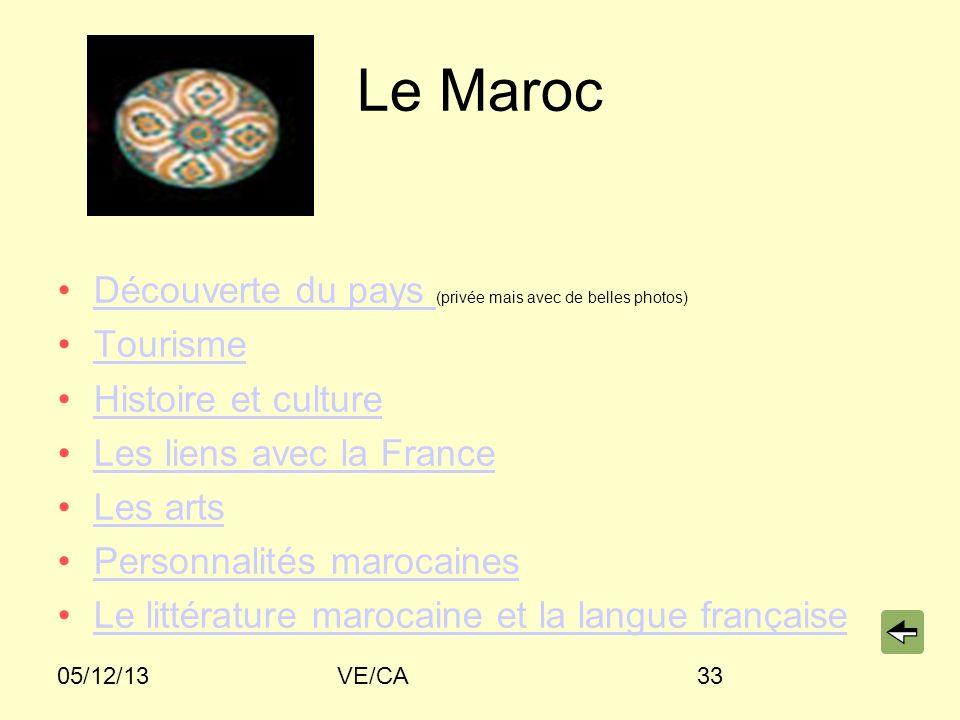 Le Maroc Découverte du pays (privée mais avec de belles photos)