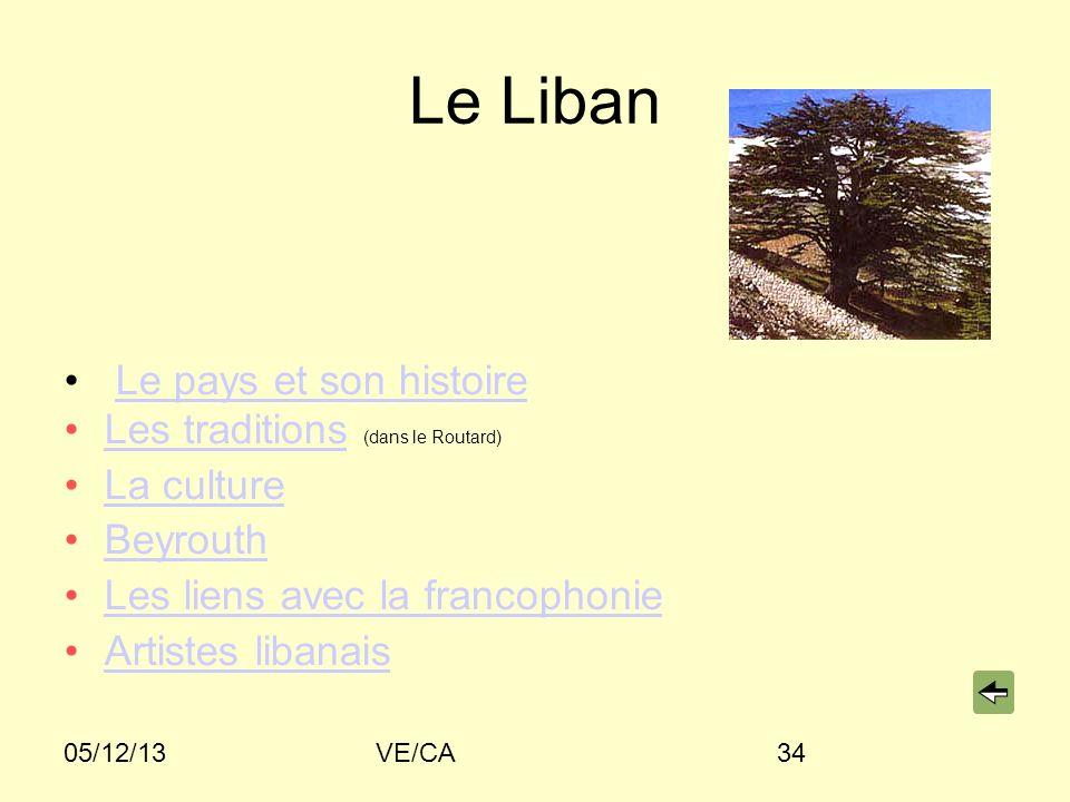 Le Liban Le pays et son histoire Les traditions (dans le Routard)