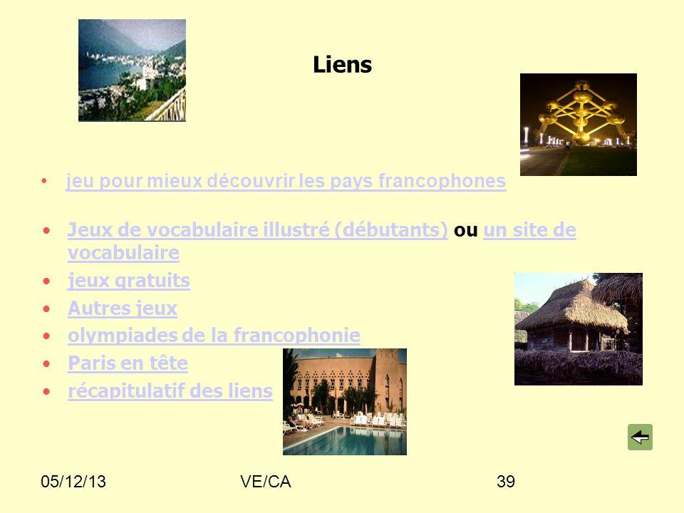 Liens jeu pour mieux découvrir les pays francophones