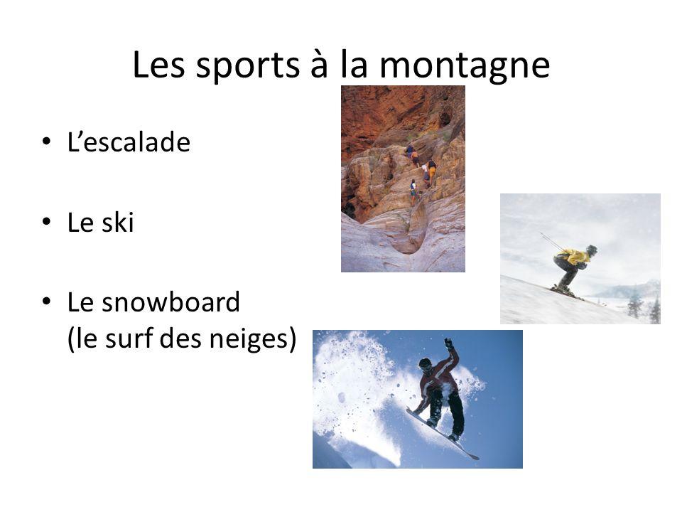 Les sports à la montagne