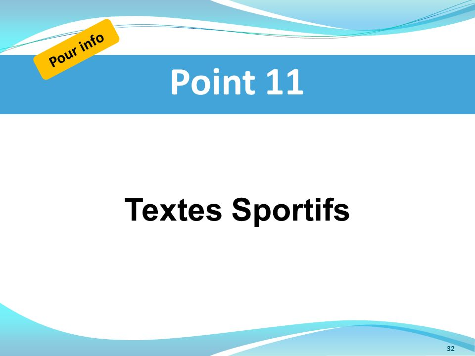 Pour info Point 11 Textes Sportifs