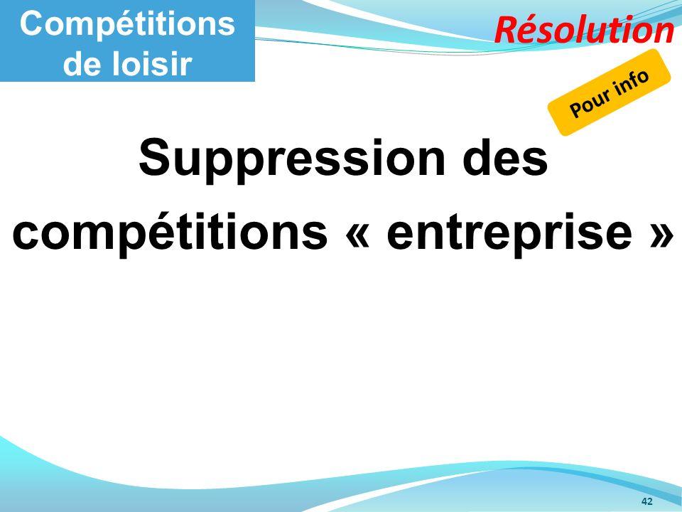 Compétitions de loisir