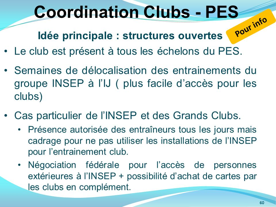 Coordination Clubs - PES