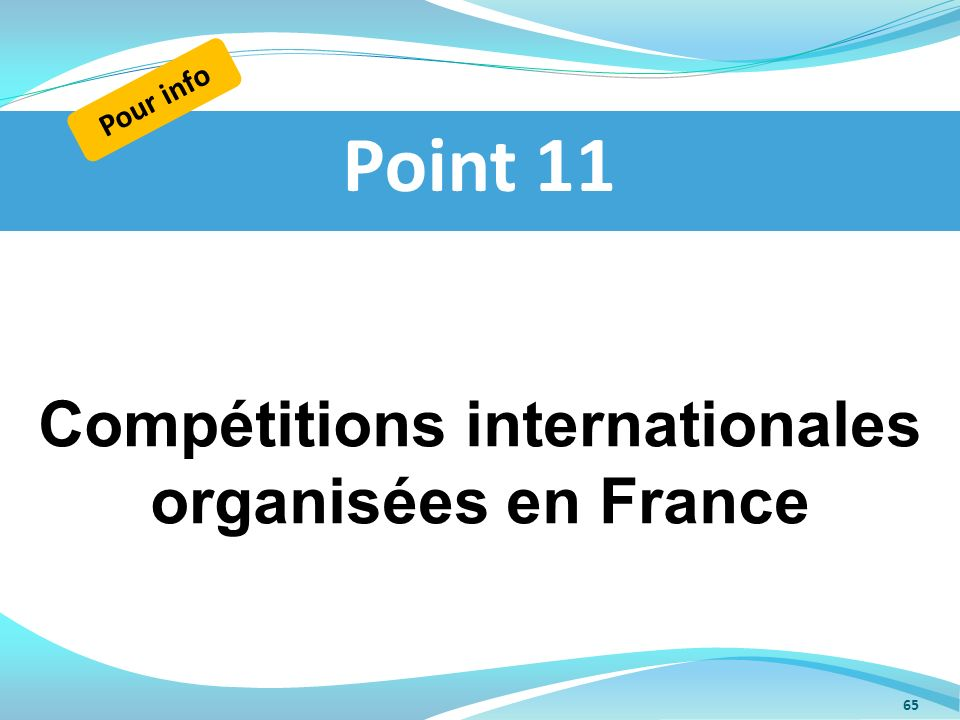 Compétitions internationales