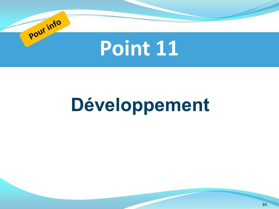 Pour info Point 11 Développement