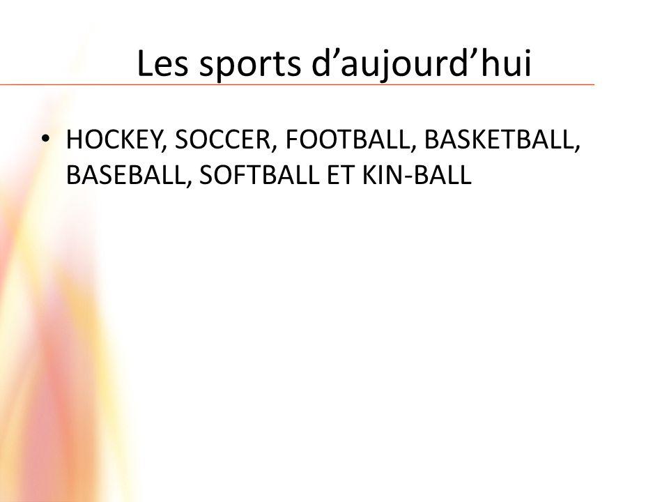 Les sports d'aujourd'hui