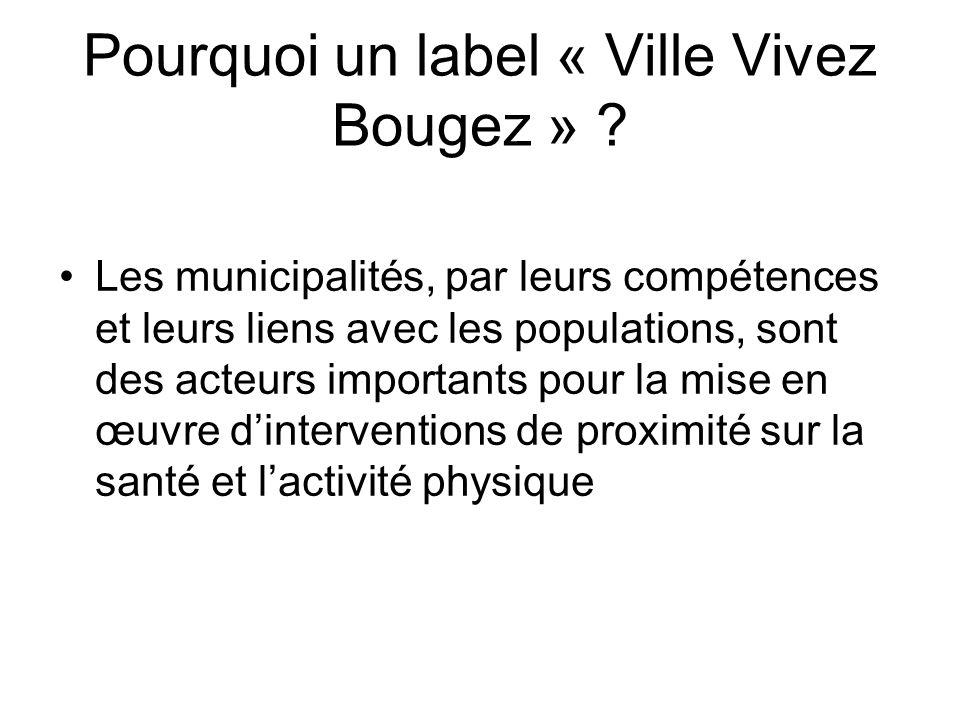 Pourquoi un label « Ville Vivez Bougez »