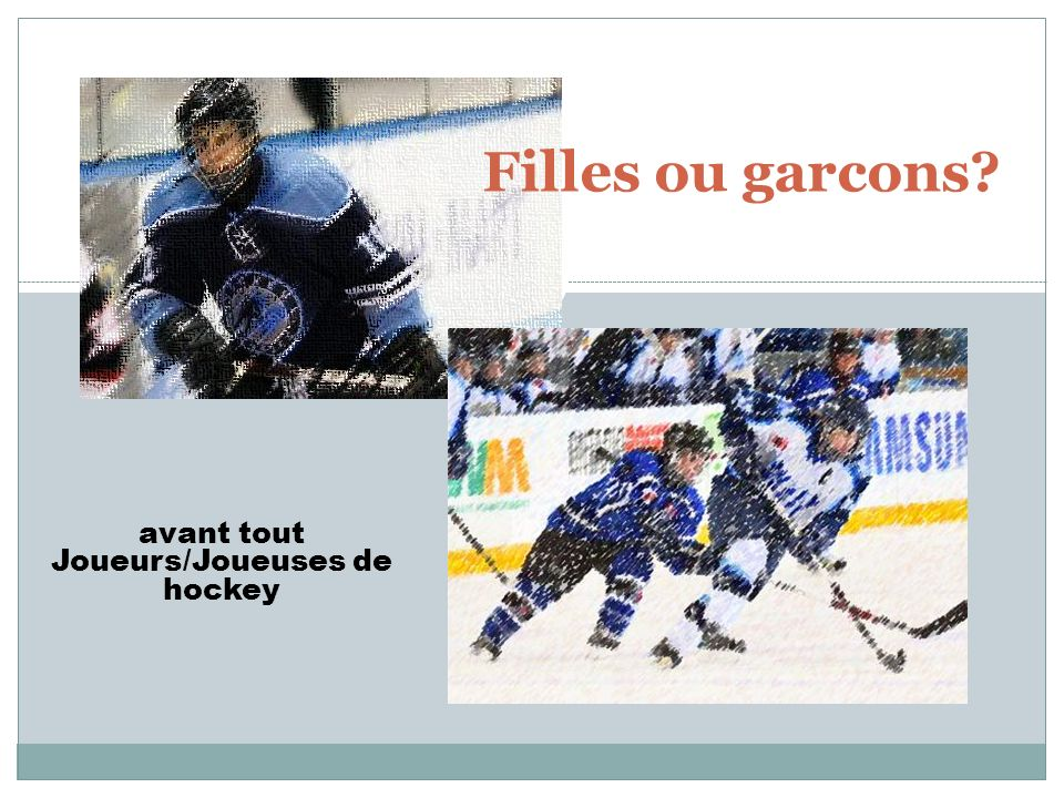 Joueurs/Joueuses de hockey