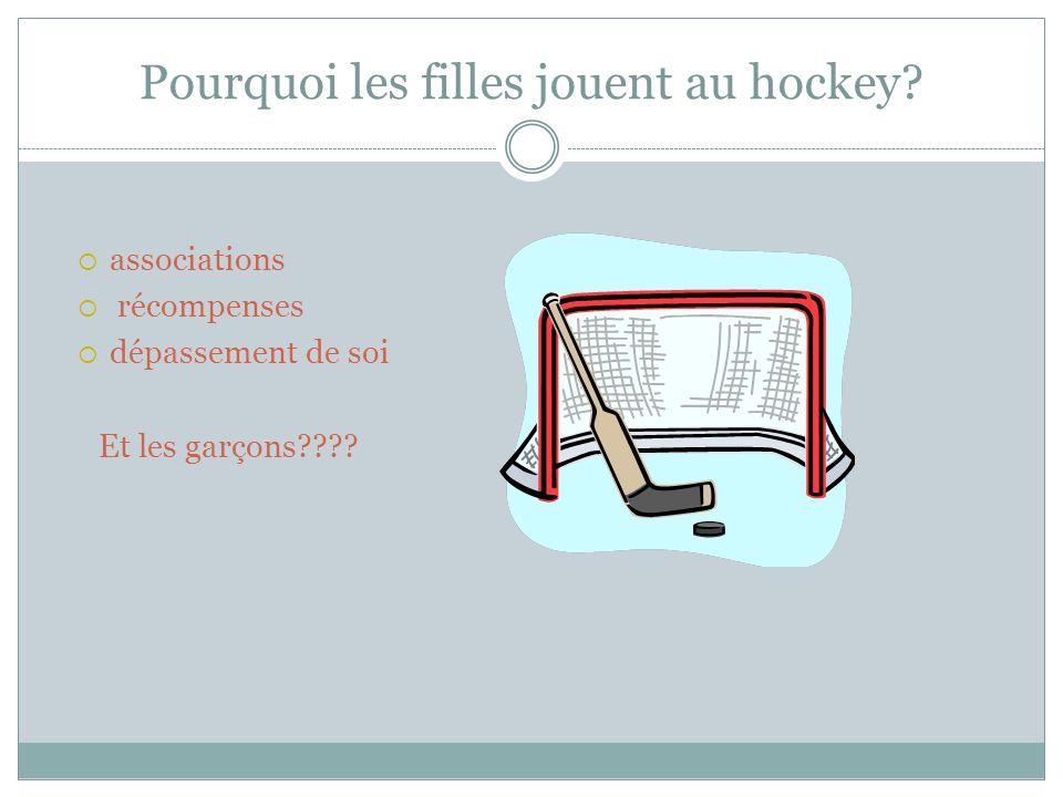 Pourquoi les filles jouent au hockey