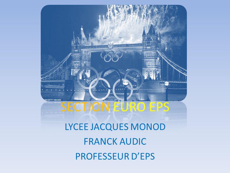 LYCEE JACQUES MONOD FRANCK AUDIC PROFESSEUR D'EPS