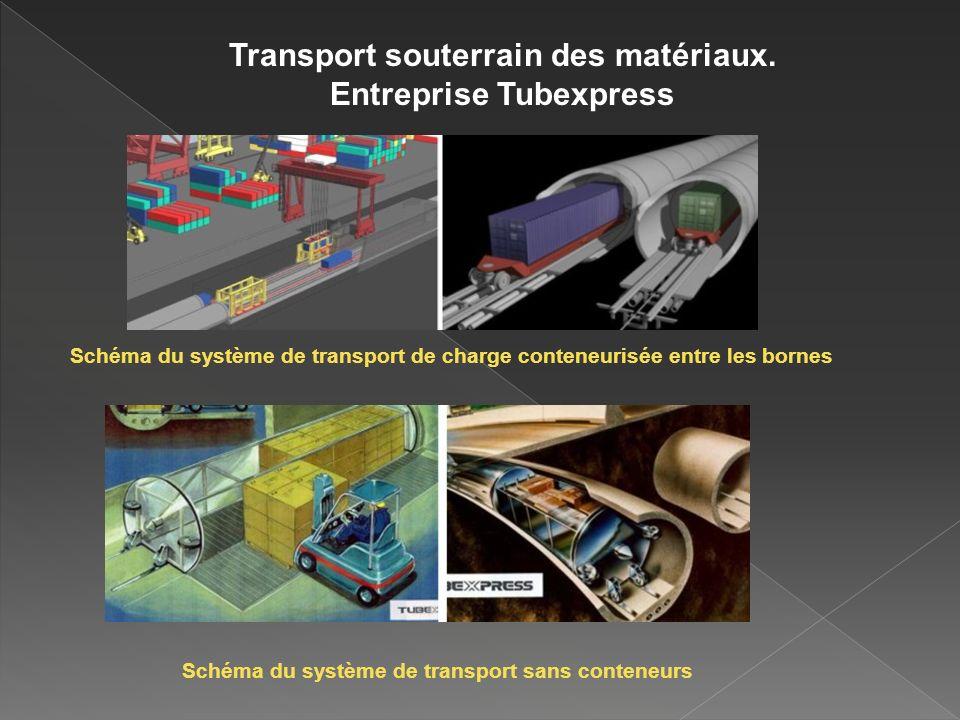Transport souterrain des matériaux. Entreprise Tubexpress