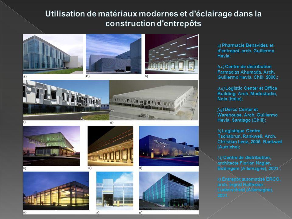 Utilisation de matériaux modernes et d éclairage dans la construction d entrepôts