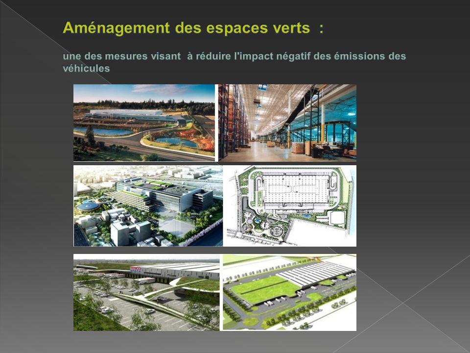 Aménagement des espaces verts : une des mesures visant à réduire l impact négatif des émissions des véhicules