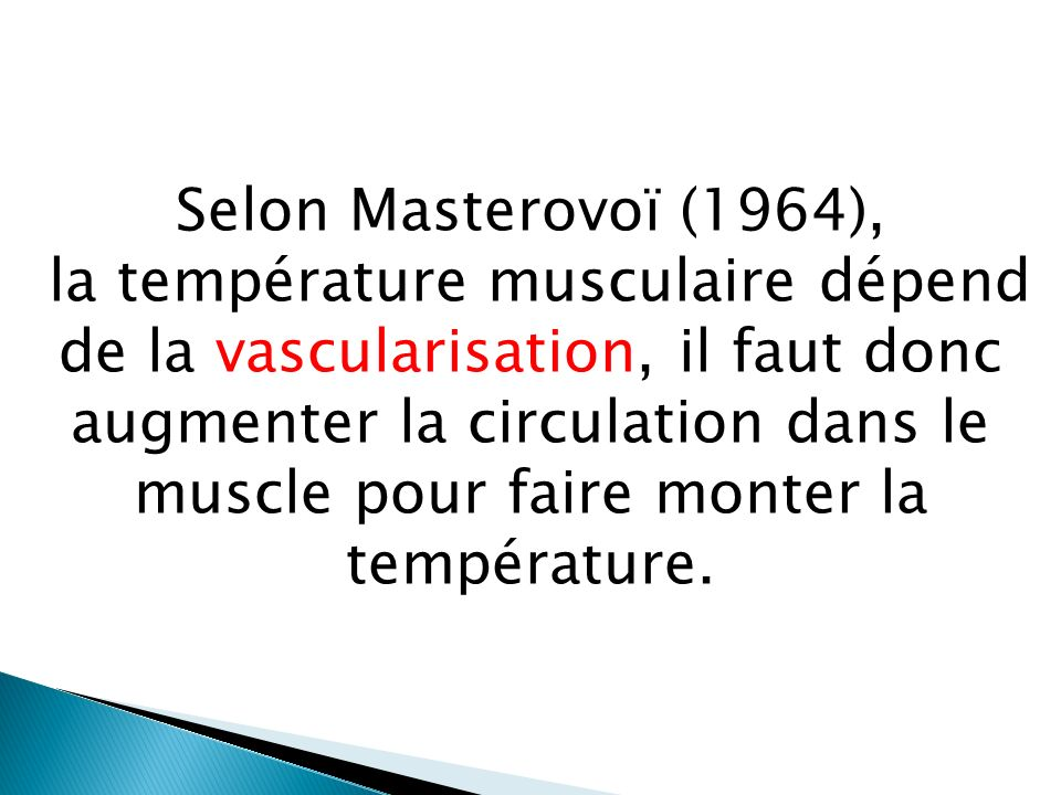 Selon Masterovoï (1964),