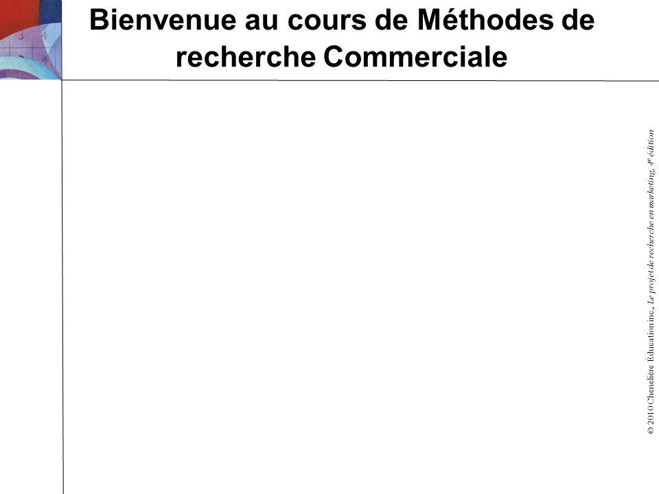 Bienvenue au cours de Méthodes de recherche Commerciale