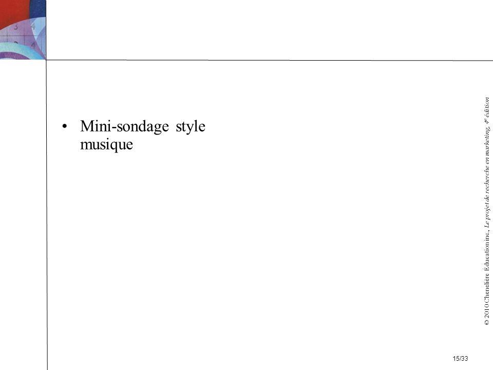 Mini-sondage style musique
