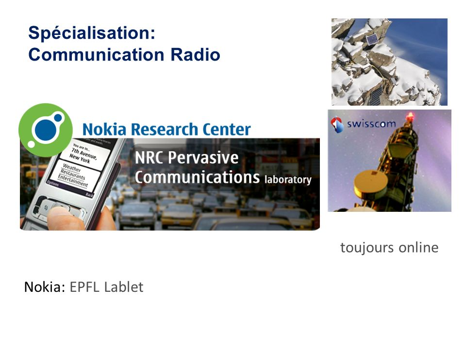 Spécialisation: Communication Radio