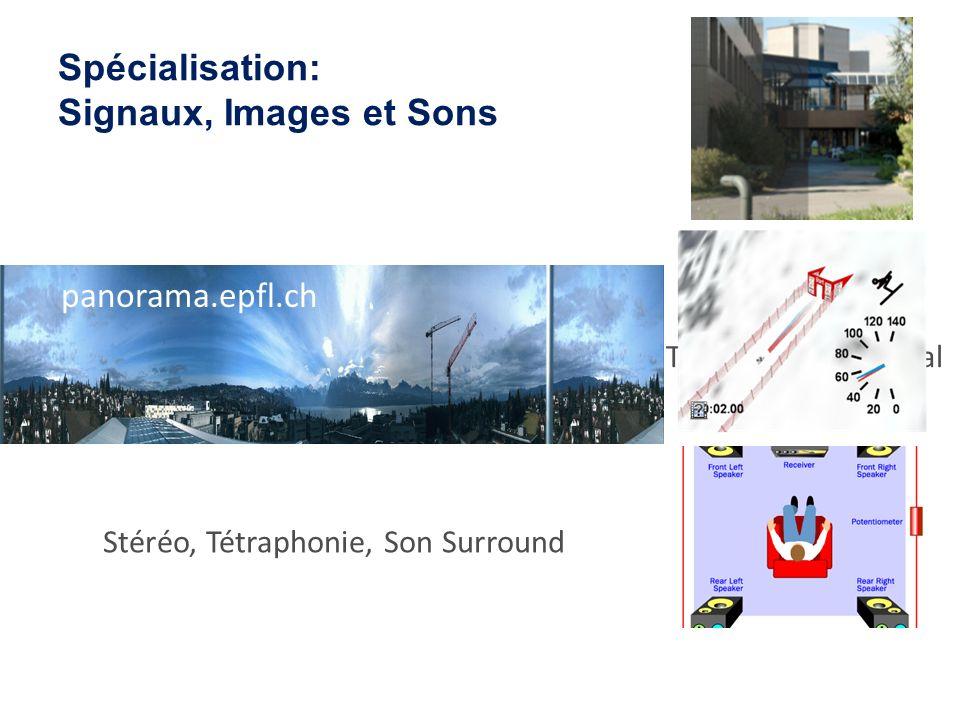 Spécialisation: Signaux, Images et Sons
