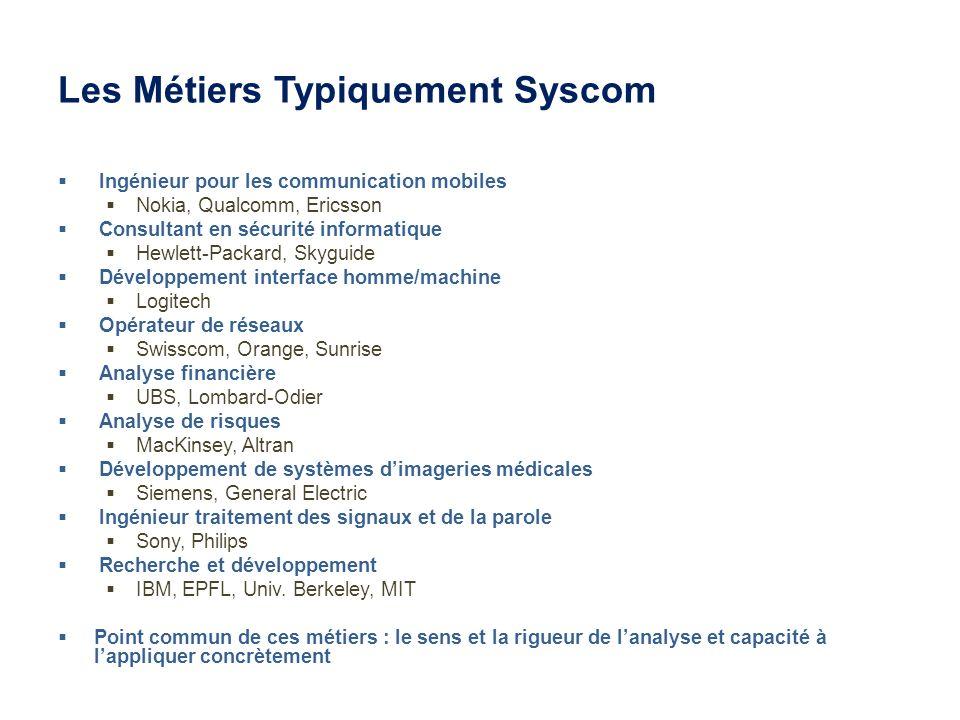 Les Métiers Typiquement Syscom
