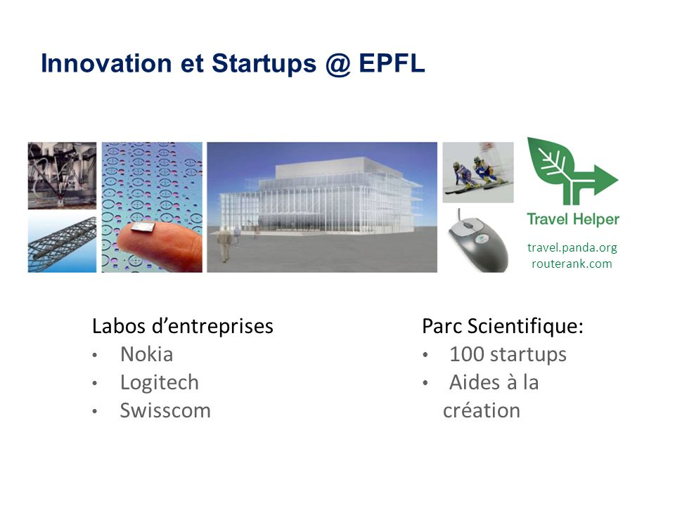 Innovation et Startups @ EPFL