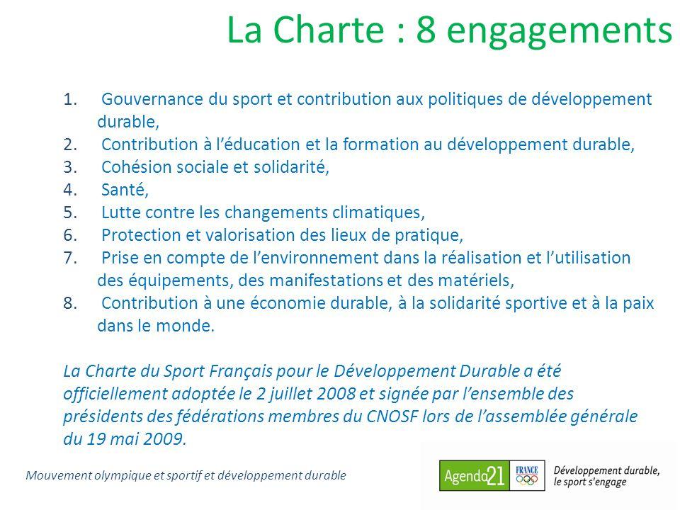La Charte : 8 engagements