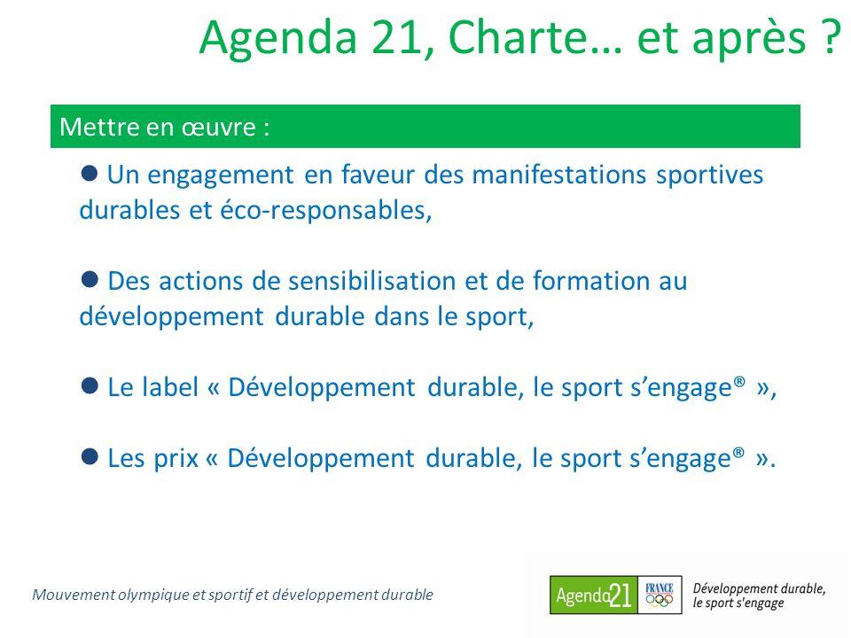 Agenda 21, Charte… et après