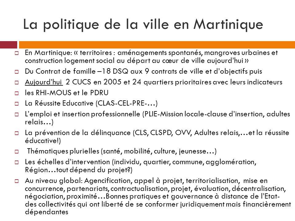 La politique de la ville en Martinique