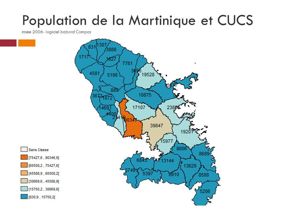 Population de la Martinique et CUCS insee 2006- logiciel babord Compas
