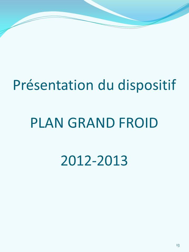Présentation du dispositif PLAN GRAND FROID 2012-2013