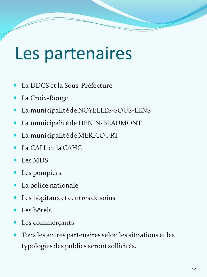 Les partenaires La DDCS et la Sous-Préfecture La Croix-Rouge