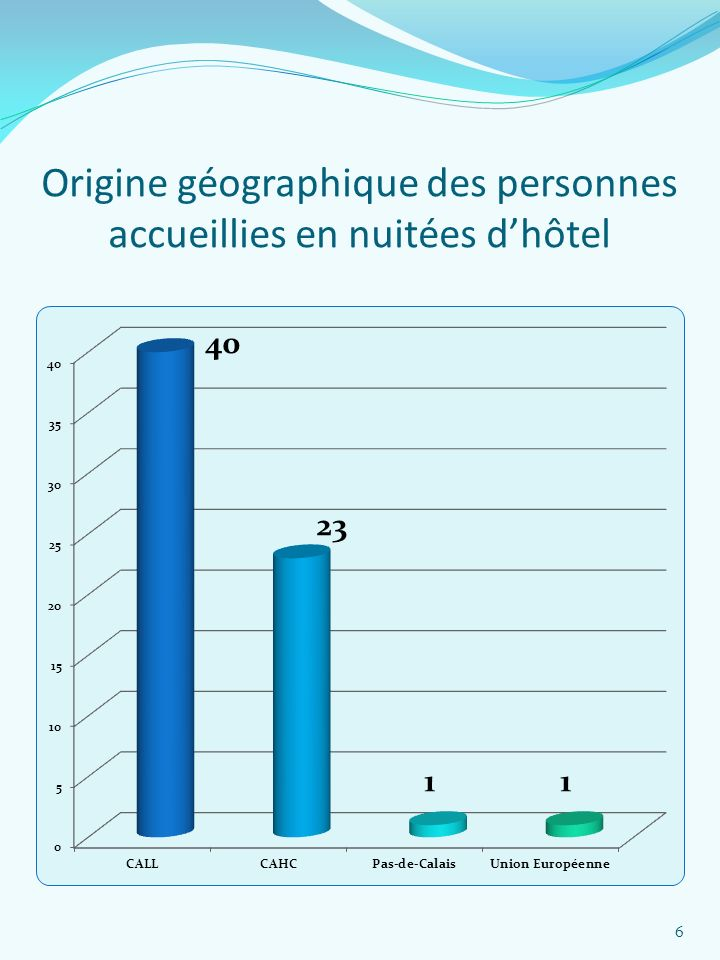Origine géographique des personnes accueillies en nuitées d'hôtel