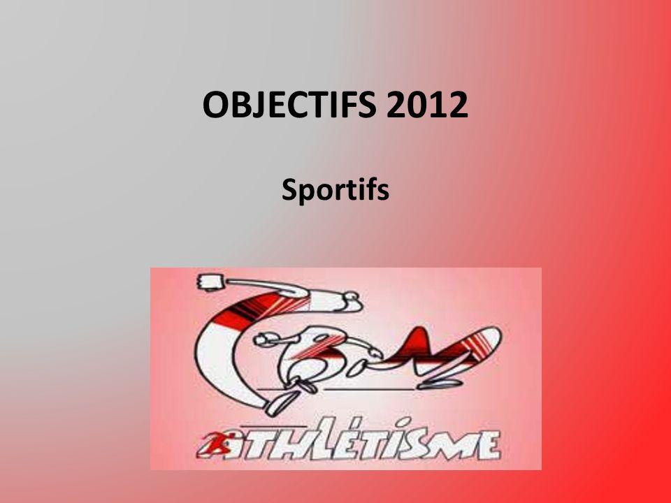 OBJECTIFS 2012 Sportifs