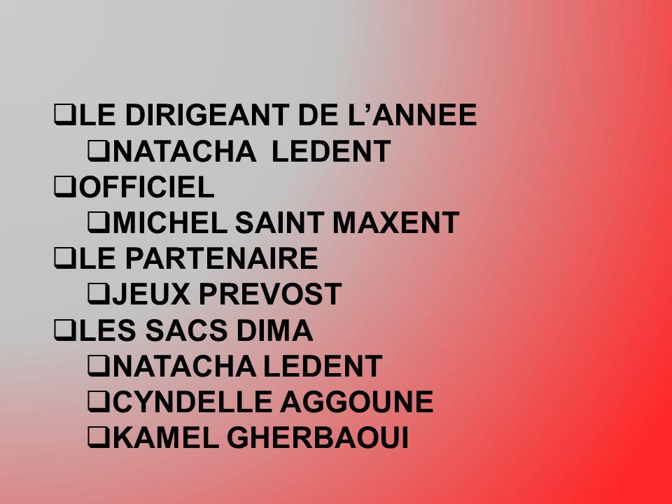 LE DIRIGEANT DE L'ANNEE