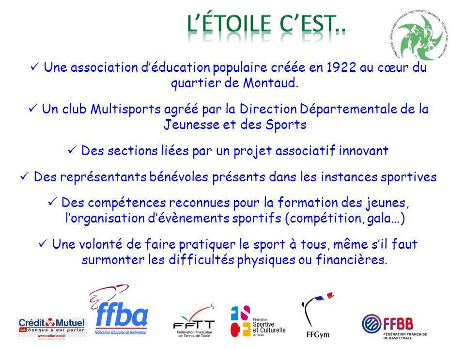 L'étoile c'est.. Une association d'éducation populaire créée en 1922 au cœur du quartier de Montaud.