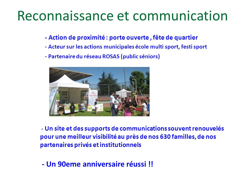 Reconnaissance et communication