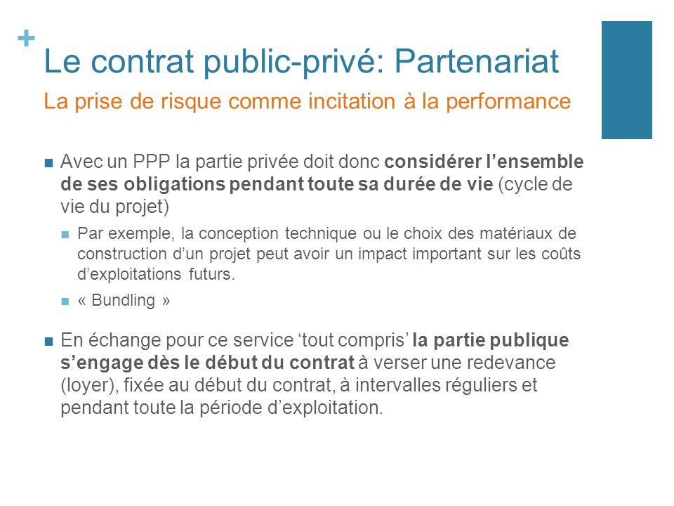 Le contrat public-privé: Partenariat