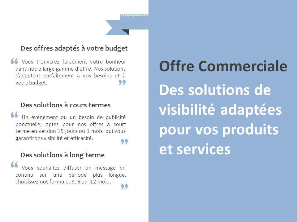 Des solutions de visibilité adaptées pour vos produits et services