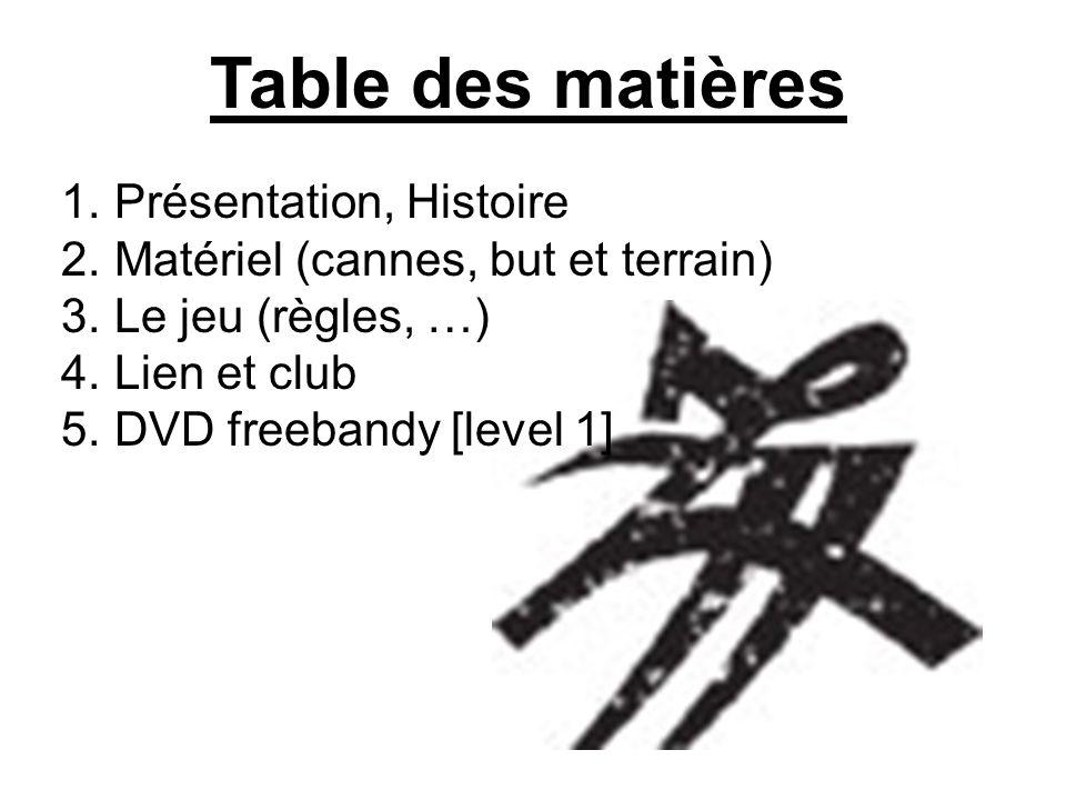 Table des matières Présentation, Histoire