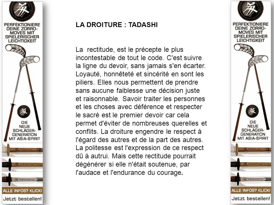 LA DROITURE : TADASHI