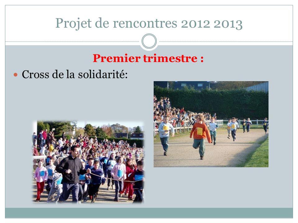 Projet de rencontres 2012 2013 Premier trimestre :