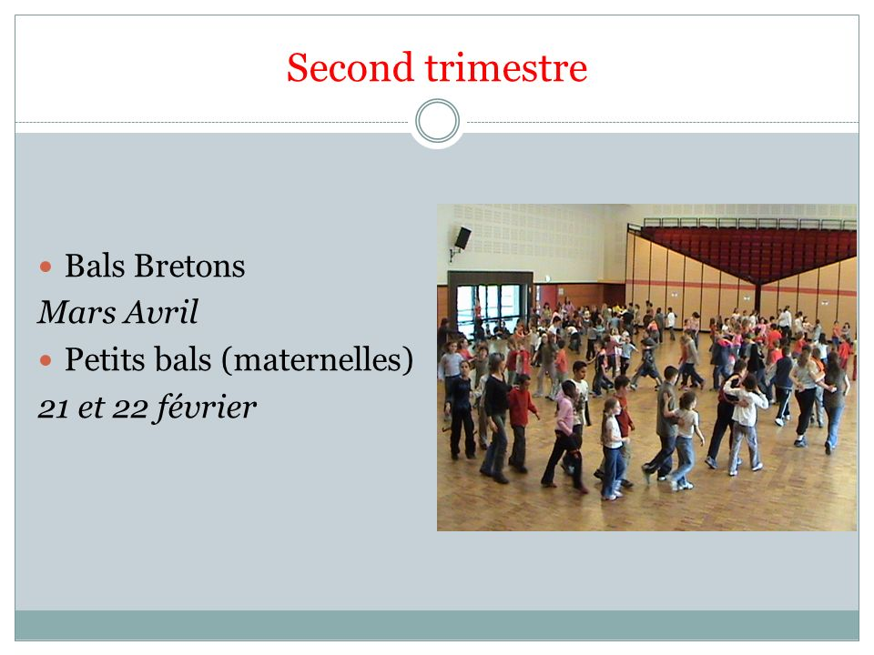Second trimestre Bals Bretons Mars Avril Petits bals (maternelles)